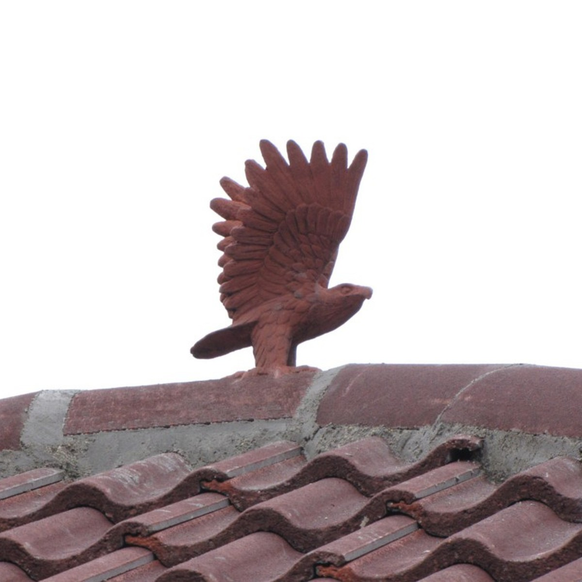 car port hawk roof finial with marley colour match - Roof Finials